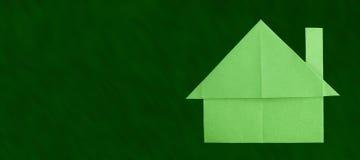 Το έγγραφο σπιτιών έκανε το διπλωμένο ύφος origami Στοκ εικόνες με δικαίωμα ελεύθερης χρήσης