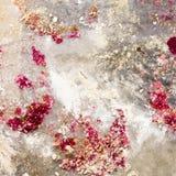 Το έγγραφο Perchament από το φούρνο με crumbs ψήθηκε με το κόκκινο είναι Στοκ Εικόνες