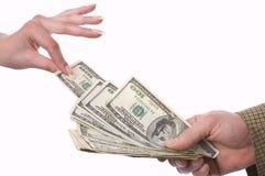 το έγκαυμα έχει τα χρήματα Στοκ εικόνα με δικαίωμα ελεύθερης χρήσης