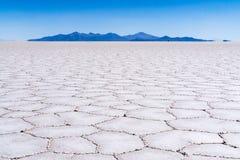 Το έδαφος στα αλατισμένα επίπεδα, Βολιβία στοκ φωτογραφία