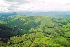 Το έδαφος της λαϊκής Δημοκρατίας του Κονγκό από το ύψος του ματιού του πουλιού στοκ εικόνες