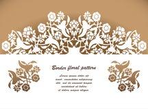 Το λέιζερ έκοψε το floral διάνυσμα σχεδίων διακοσμήσεων arabesque Περικοπή προτύπων Στοκ Εικόνα