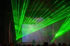 Το λέιζερ παρουσιάζει στη συναυλία Στοκ φωτογραφία με δικαίωμα ελεύθερης χρήσης