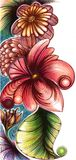 το έμβλημα είναι μπορεί διαφορετικοί floral σκοποί απεικόνισης χρησιμοποιούμενοι Στοκ εικόνα με δικαίωμα ελεύθερης χρήσης