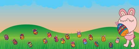 Το έμβλημα Πάσχας αυγών πηγαίνει εορτασμός Στοκ Φωτογραφία