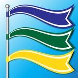 Το έμβλημα σημαιών Στοκ φωτογραφία με δικαίωμα ελεύθερης χρήσης