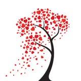 Το δέντρο καρδιών Στοκ φωτογραφίες με δικαίωμα ελεύθερης χρήσης