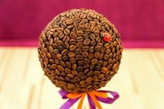 Το δέντρο καφέ χειροποίητο Στοκ Εικόνες