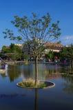 Το δέντρο στη λίμνη στο χιλιετές πάρκο Στοκ φωτογραφία με δικαίωμα ελεύθερης χρήσης