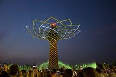 Το δέντρο της ζωής παρουσιάζει σε EXPO το 2015 στο Μιλάνο Στοκ Εικόνες