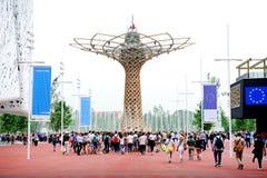 Το δέντρο της ζωής σε EXPO Μιλάνο 2015 Στοκ φωτογραφία με δικαίωμα ελεύθερης χρήσης