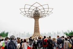 Το δέντρο της ζωής σε EXPO Μιλάνο 2015 Στοκ Εικόνες