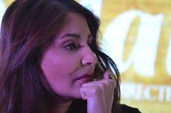 """Το έξοχο αστέρι Anushka Sharma Bollywood προάγει τον επερχόμενο κινηματογράφο της """"Phillauri† σε Bhopal Στοκ εικόνα με δικαίωμα ελεύθερης χρήσης"""