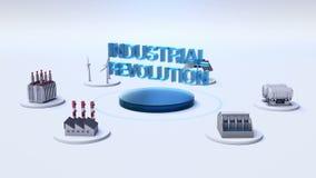 Το έξυπνο εργοστάσιο, ηλιακό πλαίσιο, γεννήτρια αέρα, υδροηλεκτρισμός συνδέει Διαδίκτυο των πραγμάτων ΒΙΟΜΗΧΑΝΙΚΉ ΕΠΑΝΆΣΤΑΣΗ ` απεικόνιση αποθεμάτων