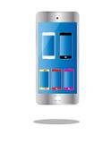 Το έξυπνο τηλεφωνικό χρώμα απομόνωσε 6 στο τηλέφωνο Στοκ φωτογραφία με δικαίωμα ελεύθερης χρήσης