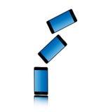 Το έξυπνο τηλεφωνικό χρώμα απομόνωσε την ταξινομημένη πτώση Στοκ εικόνα με δικαίωμα ελεύθερης χρήσης