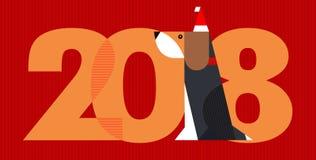2018 - το έτος σκυλιού Στοκ Εικόνες