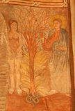 Τολέδο - δημιουργία της νωπογραφίας της Eva στην εκκλησία SAN Ρωμαίος. Στοκ εικόνα με δικαίωμα ελεύθερης χρήσης