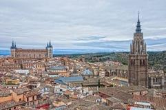 Τολέδο, παλαιά πόλη της Ισπανίας, σε μια νεφελώδη ημέρα Στοκ Φωτογραφία