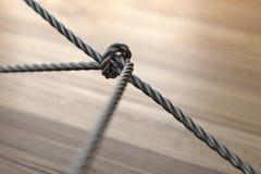 Το δίκτυο σχοινιών, δικτύωση, συνδέει, μαζί βρόχος τρισδιάστατη απόδοση Στοκ Φωτογραφίες