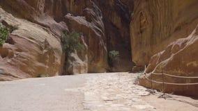 Το ίχνος φαραγγιών στη Petra φιλμ μικρού μήκους