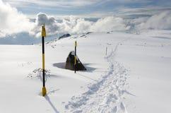 Το ίχνος χιονιού Στοκ φωτογραφία με δικαίωμα ελεύθερης χρήσης