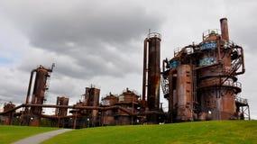 Το αέριο λειτουργεί το πάρκο σε μια νεφελώδη ημέρα, Σιάτλ, Ουάσιγκτον, ΗΠΑ στοκ εικόνες