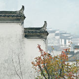 Το αέτωμα corbie των κινεζικών λαϊκών σπιτιών Στοκ Φωτογραφία