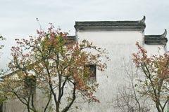 Το αέτωμα corbie των κινεζικών λαϊκών σπιτιών Στοκ Φωτογραφίες