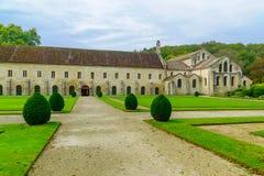 Το αβαείο Fontenay Στοκ Εικόνες