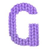 Το αγγλικό αλφάβητο γραμμάτων Γ, χρωματίζει την πορφύρα Στοκ Εικόνες