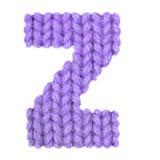 Το αγγλικό αλφάβητο γραμμάτων Ζ, χρωματίζει την πορφύρα Στοκ εικόνα με δικαίωμα ελεύθερης χρήσης
