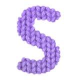 Το αγγλικό αλφάβητο γραμμάτων S, χρωματίζει την πορφύρα Στοκ Φωτογραφία