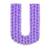 Το αγγλικό αλφάβητο γραμμάτων U, χρωματίζει την πορφύρα Στοκ φωτογραφίες με δικαίωμα ελεύθερης χρήσης