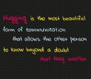 Το αγκάλιασμα είναι η πιό beautuful μορφή Στοκ Εικόνες