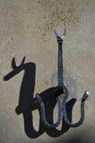 Το αγκίστρι επικολλά για τα ηνία αλόγων Στοκ Φωτογραφία