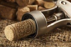 Το αγροτικό καφετί κρασί βουλώνει Στοκ φωτογραφία με δικαίωμα ελεύθερης χρήσης