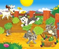 Το αγροτικό πανόραμα - θέση διασκέδασης - απεικόνιση για τα παιδιά Στοκ Εικόνες