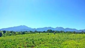 Το αγρόκτημα βουνών στοκ εικόνες