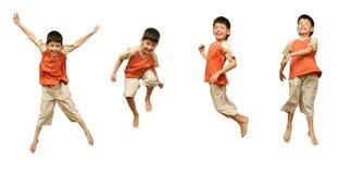 το αγόρι ανασκόπησης πηδά τ& Στοκ φωτογραφίες με δικαίωμα ελεύθερης χρήσης