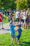 το αγόρι βράζει σαπούνι Στοκ φωτογραφία με δικαίωμα ελεύθερης χρήσης