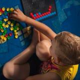 Το αγόρι είναι αριθμοί Στοκ φωτογραφία με δικαίωμα ελεύθερης χρήσης