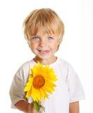 το αγόρι ευτυχές απομόνωσε λίγα Στοκ φωτογραφία με δικαίωμα ελεύθερης χρήσης