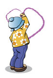 το αγόρι σύρει την καρδιά Στοκ εικόνα με δικαίωμα ελεύθερης χρήσης