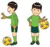 Το αγόρι ως τερματοφύλακας 1 Στοκ Εικόνα