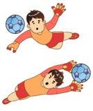 Το αγόρι ως τερματοφύλακας 2 Στοκ εικόνες με δικαίωμα ελεύθερης χρήσης