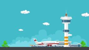 Το αεροπλάνο απογειώνεται από τον αερολιμένα ελεύθερη απεικόνιση δικαιώματος
