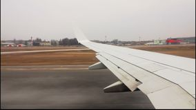 Το αεροπλάνο απογειώνεται απόθεμα βίντεο