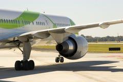 το αεροπλάνο κλείνει τη μηχανή Στοκ Εικόνα