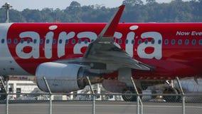Το αεροπλάνο ήταν αρχίζει επιταχύνει στο διάδρομο πριν από την απογείωση απόθεμα βίντεο